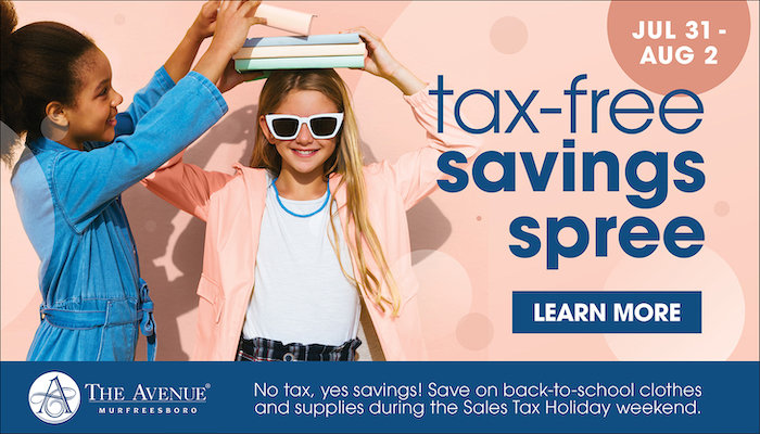 The Avenue Tax Free July 31-Aug 2, 2020